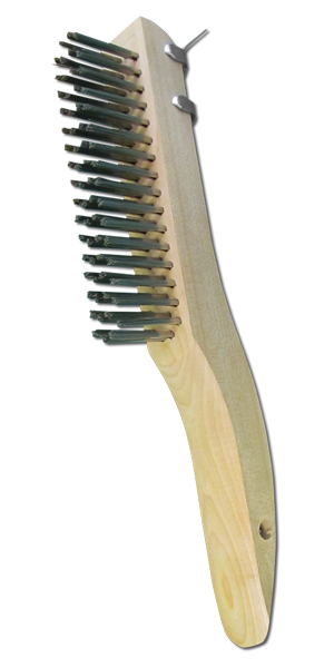 Stainless Steel Bristle Utility Brush With Scrapper