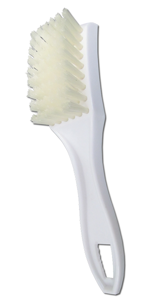 Small Plastic Utility Brush With Nylon Bristles