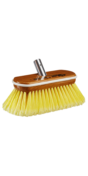 Premium Soft Wash Brush - Synthetic Wood Block W/Bumper (Yellow)