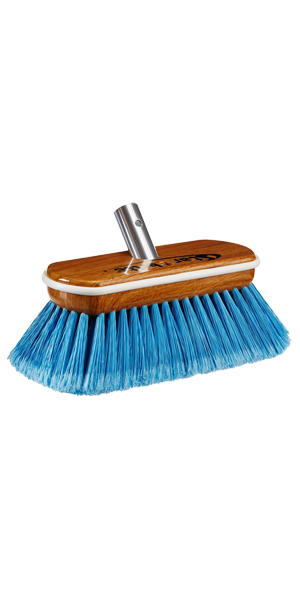 Premium Medium Wash Brush - Synthetic Wood Block W/Bumper (Blue)