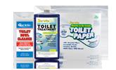 Produits chimiques pour cabinet de toilette