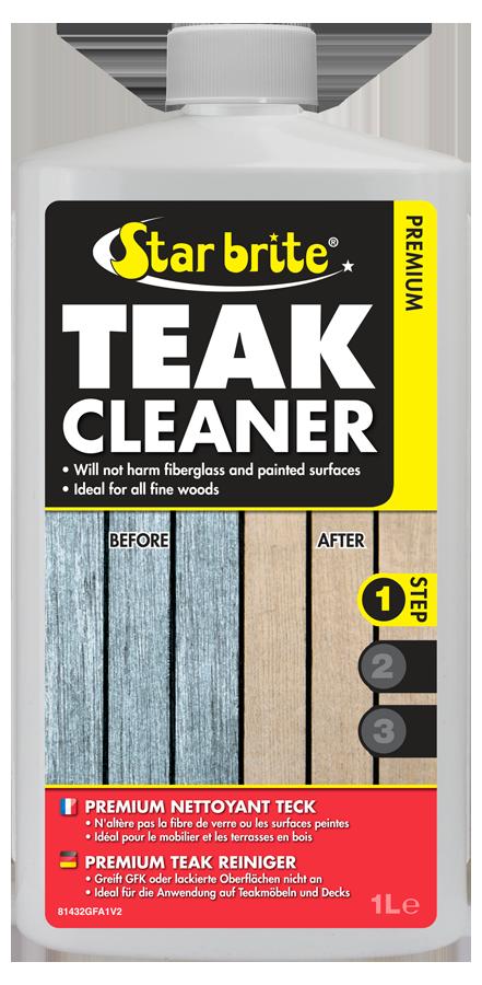 Premium Teak Cleaner Step 1