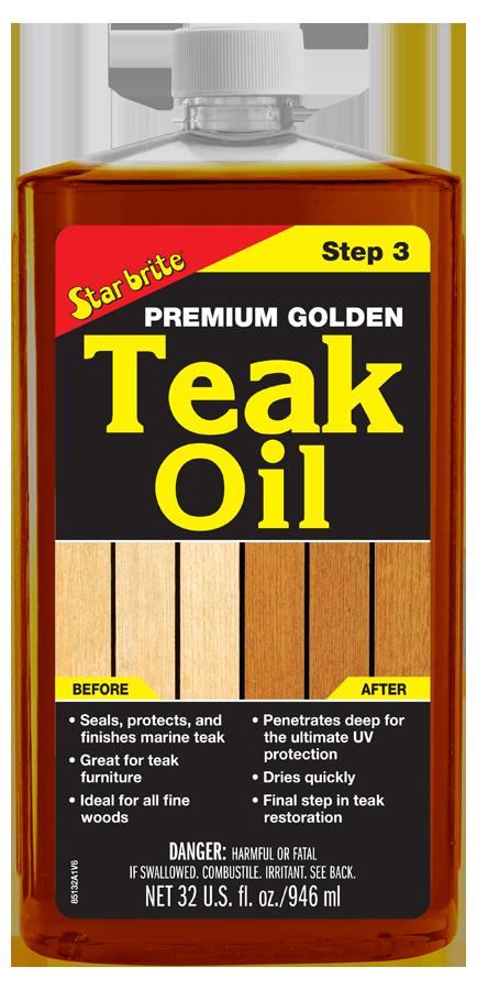 Premium Golden Teak Oil Step 3