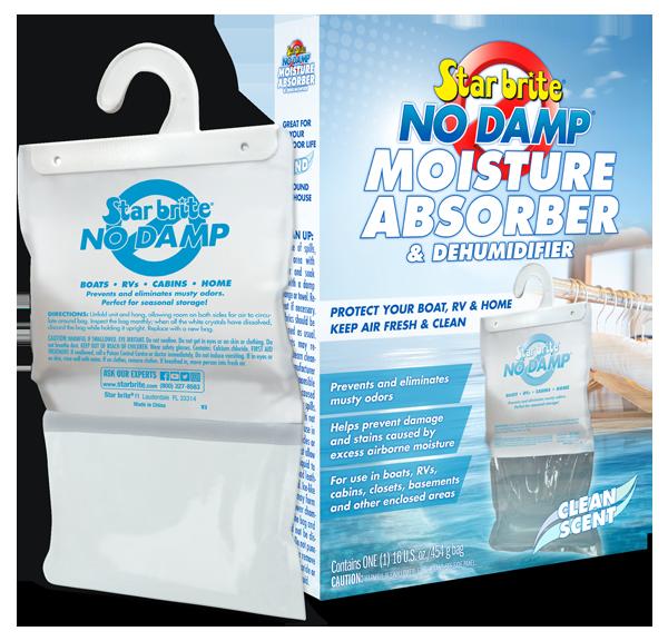 Star Brite No Damp Mildew Moisture Absorber Dehumidifier Hanging Bag Boat 85470