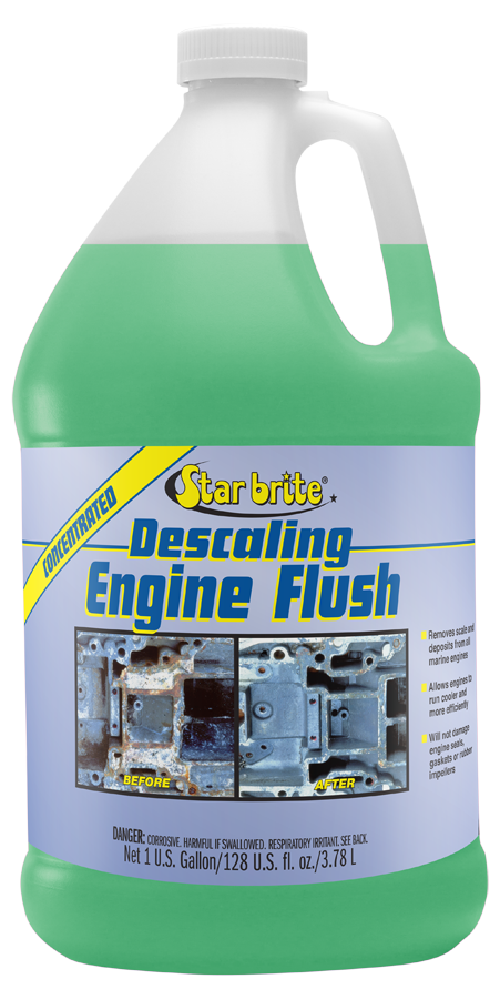 Engine cooling system flush : Descaling motor flush
